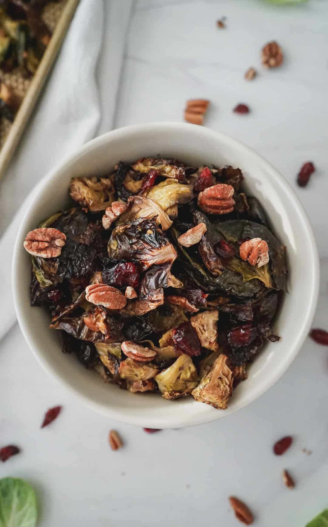 crispy healthy roasted brussels sprouts